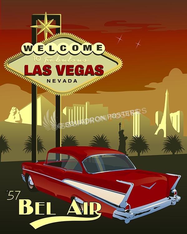 Cars For Sale In Las Vegas >> Las Vegas Bel Air – Squadron Posters