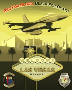 Vegas F-16 16th Weapons Squadron SP00705 feature-vintage-print