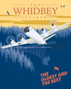 NAS Whidbey Island P-3 nas-whidbey-island-p-3-vintage-military-aviation-poster-art-print-gift