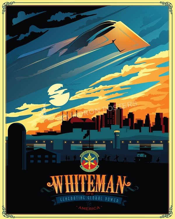 Whiteman AFB 509 MXS B-2 Whiteman_B-2_509th_MXS_SP01309-featured-aircraft-lithograph-vintage-airplane-poster-art
