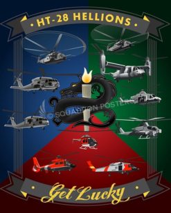 Whiting Field Helos HT-28 16x20 SP00497-vintage-military-aviation-travel-poster-art-print-gift