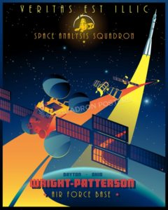 Space Analysis Squadron wright_patterson_afb_space_analysis_sq_16x20_sp01220mfeatured-aircraft-lithograph-vintage-airplane-poster