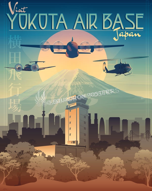 Yokota Air Base Squadron Posters