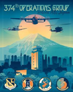 Yokota_C-130H_C-12J_UH-1N_374_OG_SP00998-featured-aircraft-lithograph-vintage-airplane-poster-art