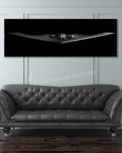 B-2 Spirit Stealth Bomber jet black-SP00981-featured-image-military-canvas