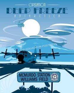 Operation Deep Freeze LC-130 poster art