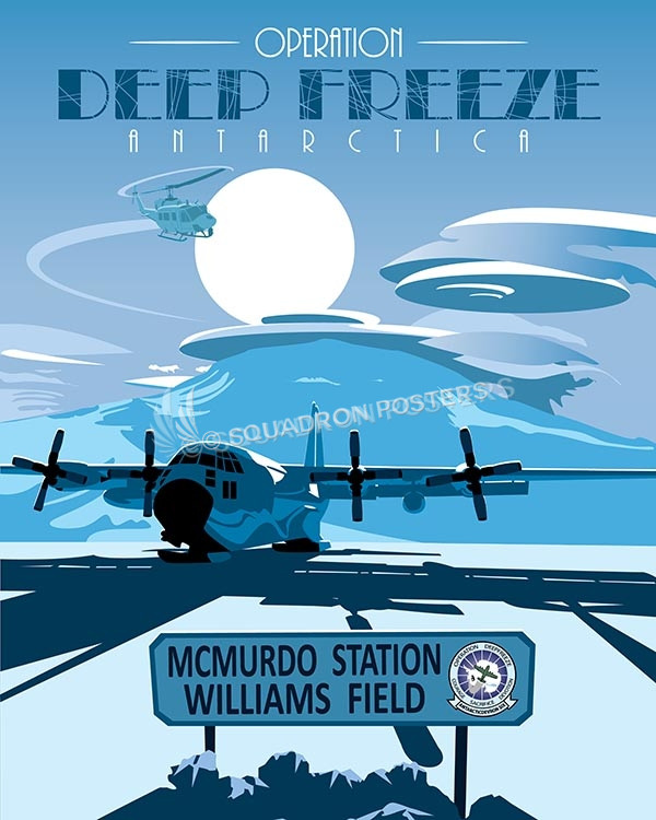 Operation Deep Freeze LC-130 poster art