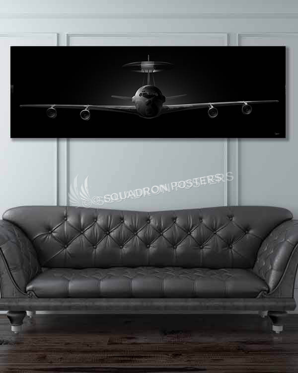 e-3 awacs jet black SP00883-featured-image-military-canvas-print