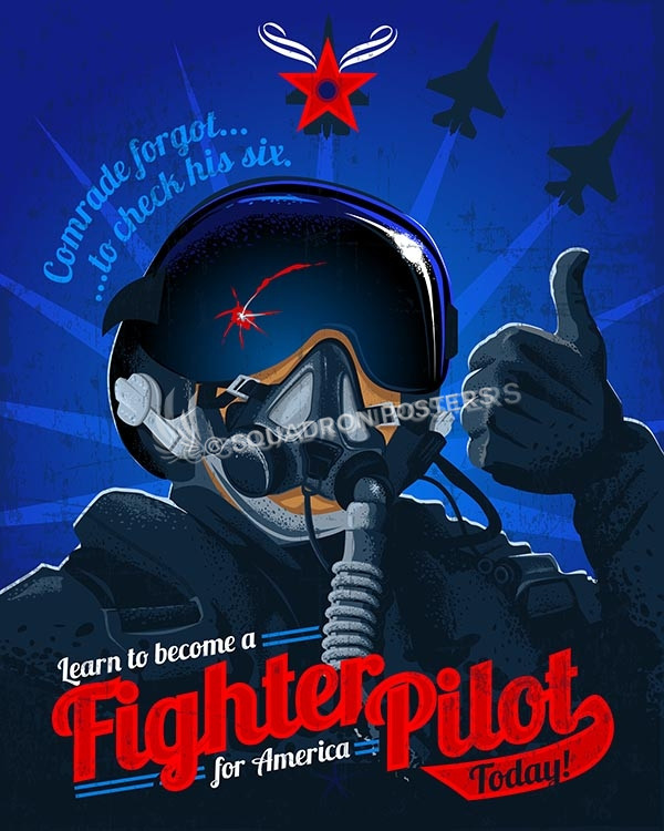 Fighter pilot for America fighter pilot 16x20 SP00451-vintage-military-aviation-travel-poster-art-print-gift