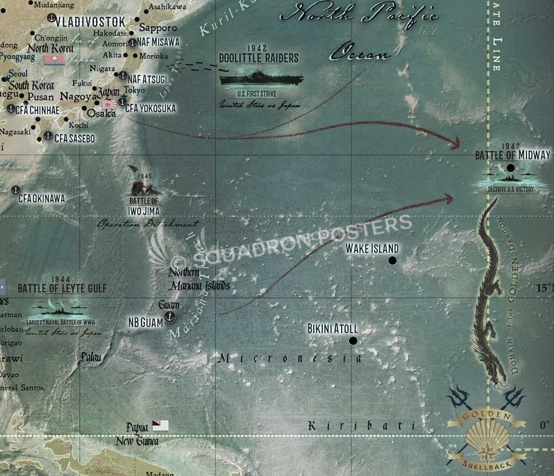 The Mariner's Map - framed push pin travel map