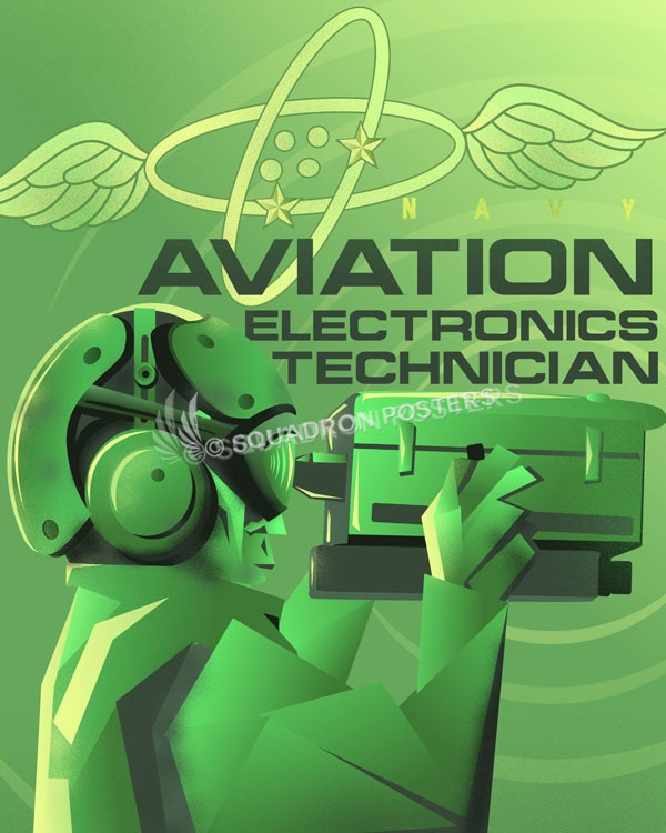 Electronics Technician Art navy-aviation-electronics-technician-SP01260-featured-aircraft-lithograph-vintage-airplane-poster-art