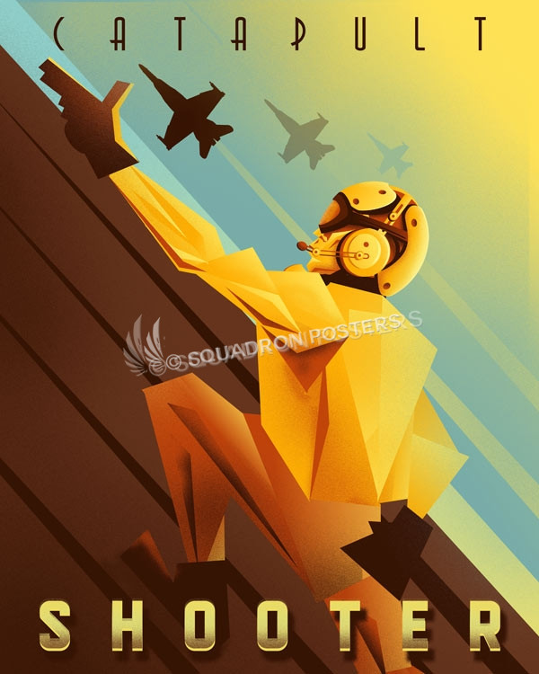 Catapult Shooter navy-catapult-shooter-SP01250-featured-aircraft-lithograph-vintage-airplane-poster-art