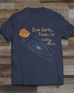 Pluto forever alone graphic T-shirt