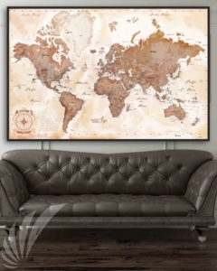 World Military Air Base Map Art