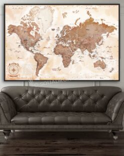 Aviator's Map push-pin-map-Aviation-air-base-air-force-navy-push-pin-map-wall-art