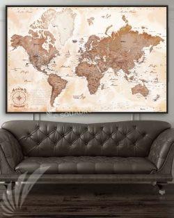 Aviator's Map push-pin-map-Aviation-air-base-air-force-navy-push-pin-map-wall-art