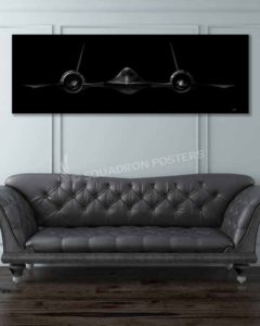 SR-71 Jet Black Super Wide Canvas Print
