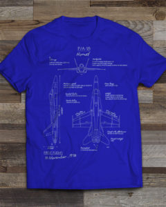 F-18 Blueprint T-shirt